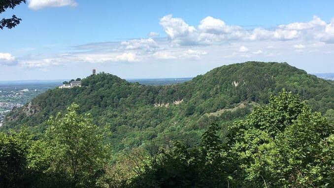 Drachenfels y Wolkenberg, vista del Breiberg