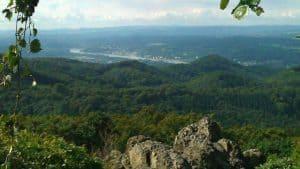 Vista del Ölberg hacia el sur, Siebengebirge, Königswinter