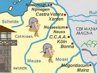 Siebengebirge historia, tiempo de los Romanos, la frontera del Rin