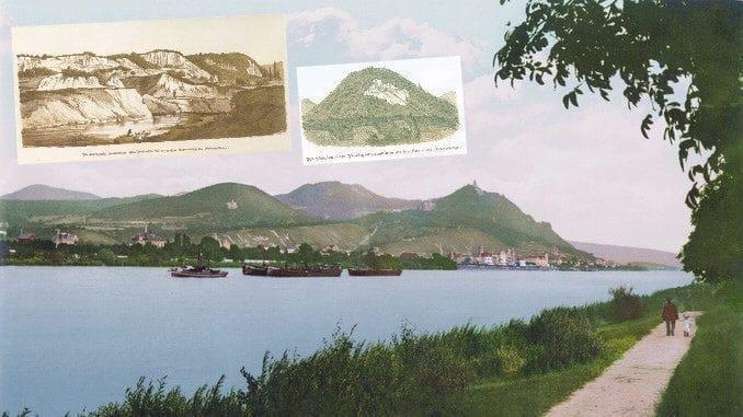 Rin y Königswinter alrededor de 1900, canteras