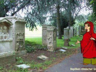 Réplicas de lápidas romanas, Rheinaue, Bonn