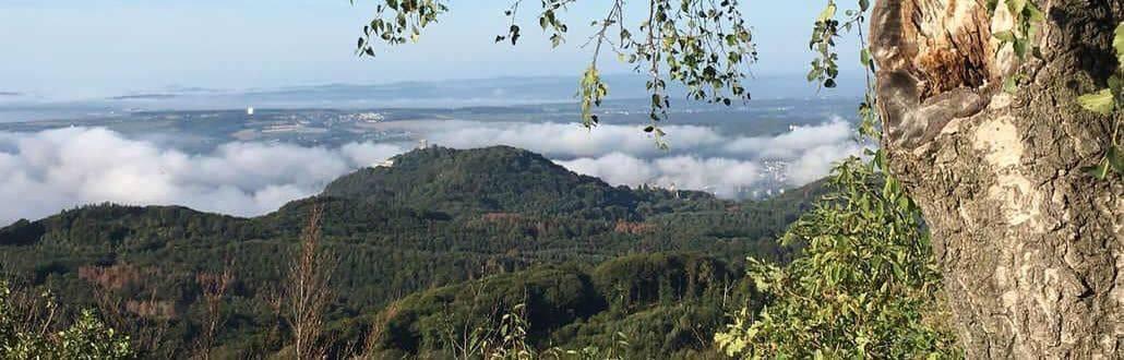 Siebengebirge, vista desde monte Ölberg hasta el monte Drachenfels